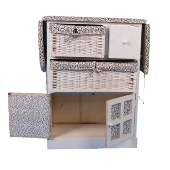 Factory Whole Wood Ironing Board Storage Cabinet Folding For Living Room Furniture Table With