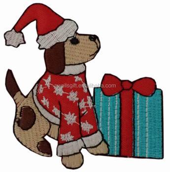 Santa Clause Hund Weihnachten Nähen Eisen Auf Bestickt Patch ...