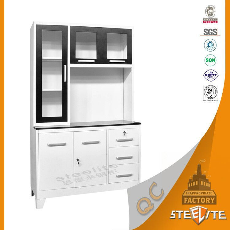Factory price powder coating stainless steel kitchen for Stainless steel kitchen cabinet price