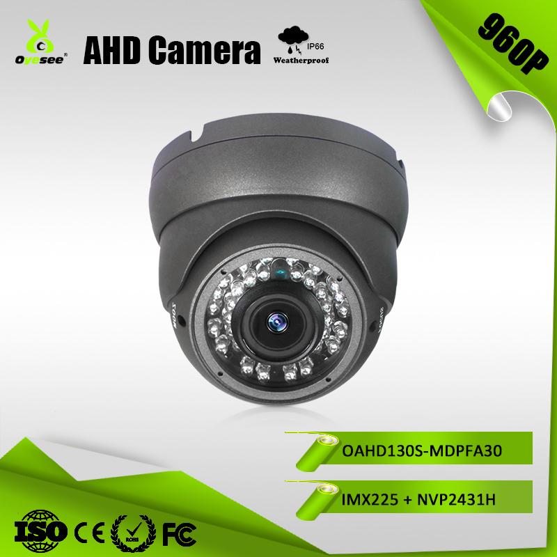 "1//3/"" 960P 1.3MP AHD Camera Sony IMX225+NVP2431H  CCTV Security AHD Dome Camera"