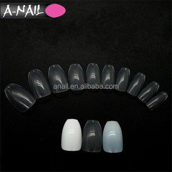 3 Colors 500pcs Bag False Nails Artificial Full Cover Fake Coffin Nail Long Natural Transpa