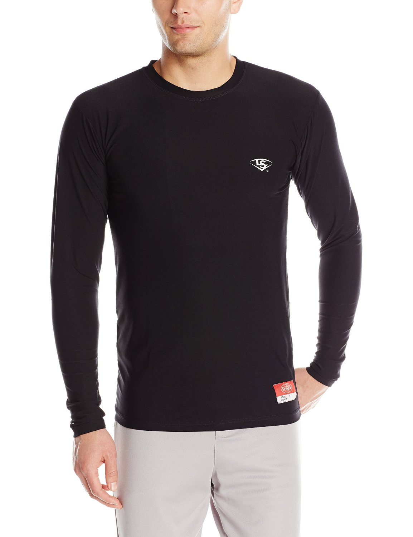Louisville Slugger Men's Compression-Fit Crew Long Sleeve Shirt