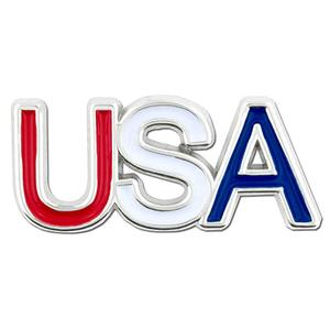 Newest customized custom USA letter cheap enamel metal lapel pin