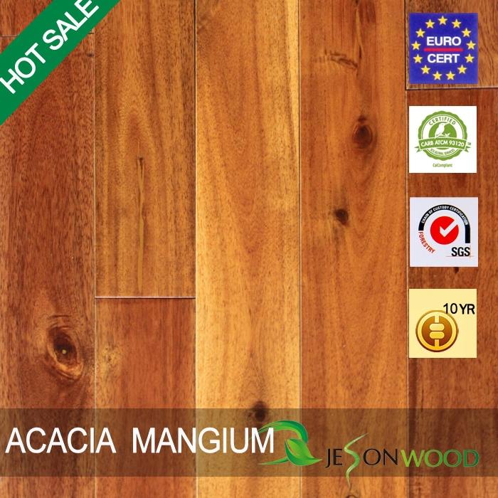 Solid Acacia Mangium Large Leaf Acacia Hardwood Flooring Flat