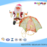 Wholesale gifts crafts plastic battery operated toy santa claus