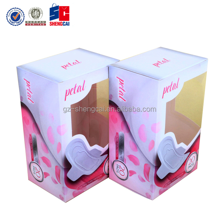 High quality custom paper box with PVC window for Petal