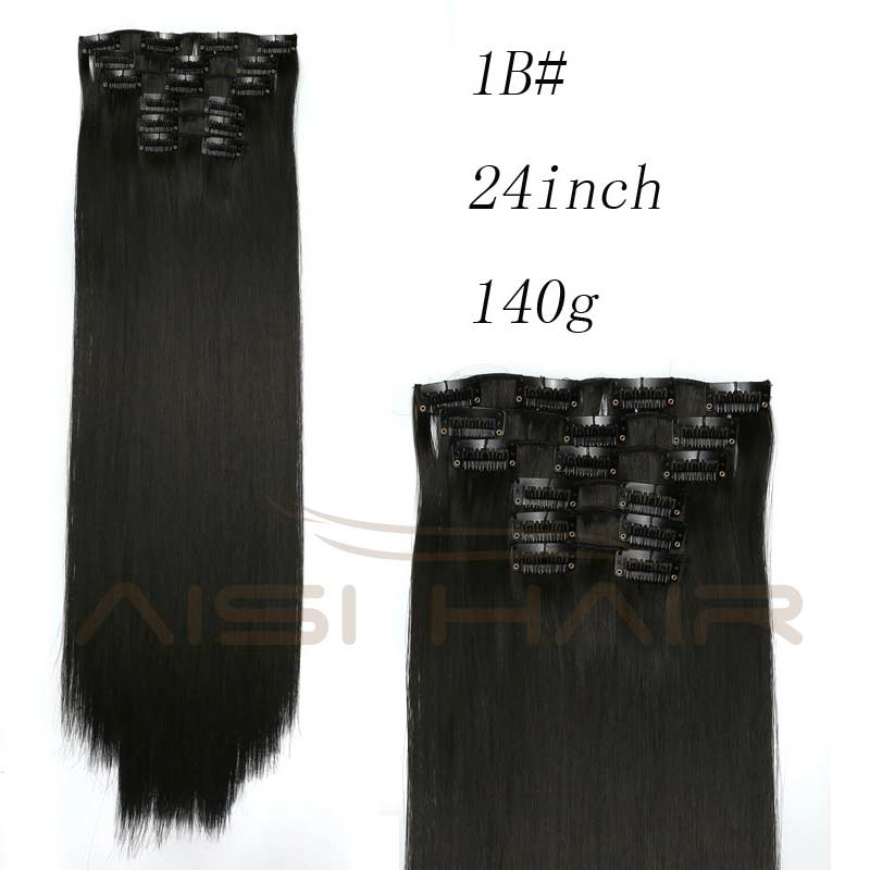 Aisi Hair 16 Clips 6pcsset Synthetic Clips In Hair Extension Long