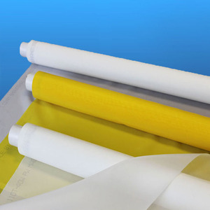 high tension white yellow 100 110 135 150 195 200 mesh polyester silk screen printing mesh for textile printing