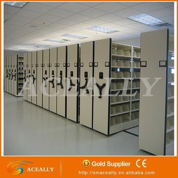 Manual M Shelf Mobile Filing Cabinet Compact Shelving