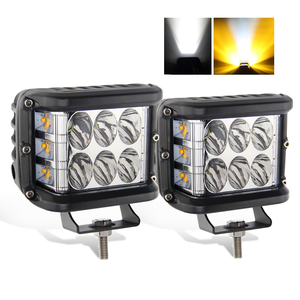 Mini Led Strobe Light Bar 4 Inch Flashlight Square Amber 12V 24Volt 48W Led Work Light for ATV UTV 4x4 Offroad Trucks