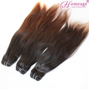 homeage Free Shipping malaysian hair bundles coffee brown hair color