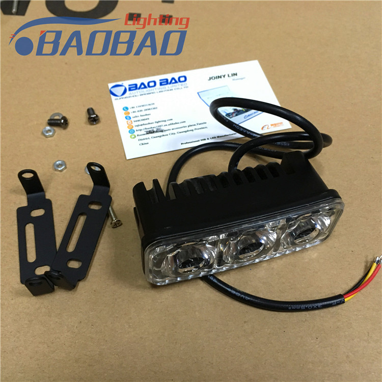 RTD E03 12-80V 3led 6W 700lM motorcycle DRL light, flash,non-flash led headlight -BAOBAO LIGHTING Factory