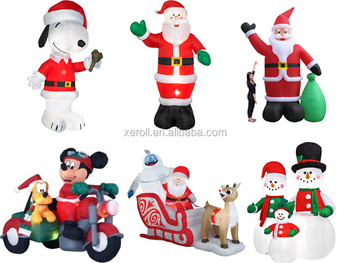 2014 winter hot selling animated christmas inflatable figures outdoor