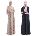 High-end Muslin Clothes Muslim Dress Women Embroidered Casual Dress