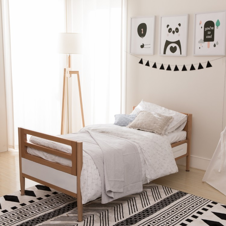 Germany Imported Beech Modern Wooden Cot Design Bed Baby CotJunior For Children