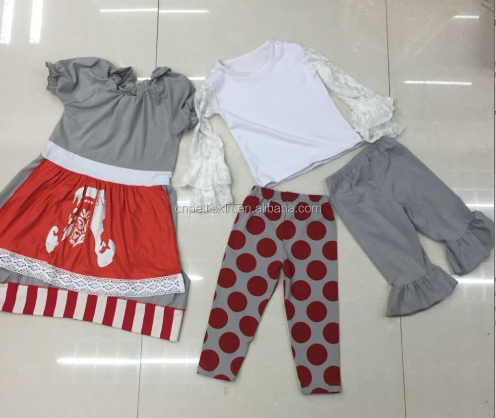 Shirt design for baby girl - 2015 Giggle Moon Remake White Lace Shirt Christmas Stocking Set Baby Girls Long Top Dress Fashion