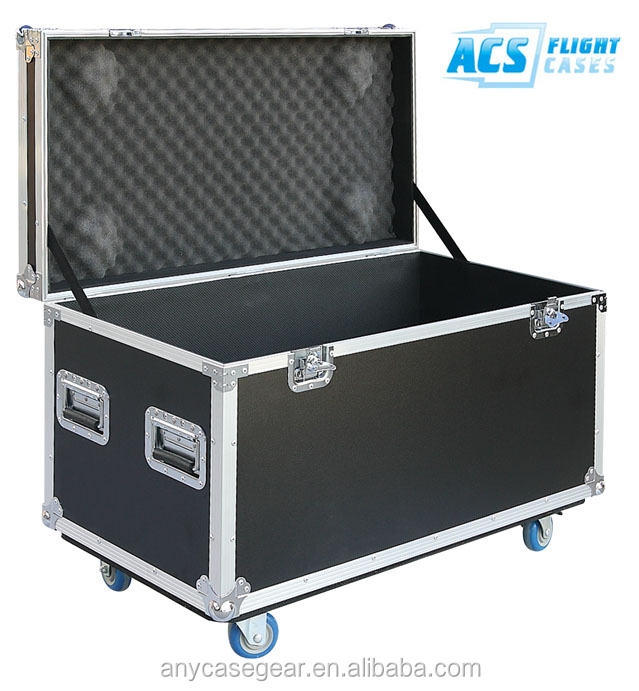 ACS High Quality Aluminum Case,Heavy Duty Utility Trunk with Casters Flight Case