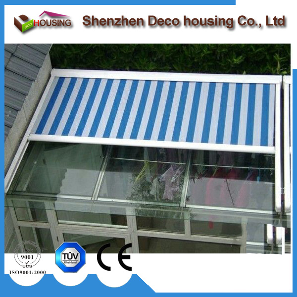 China Made retractable metal roof awning canopy for deck pergola waterproof