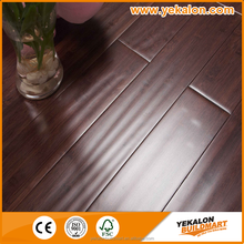 High density black Stock Flooring hand scraped solid bamboo floor