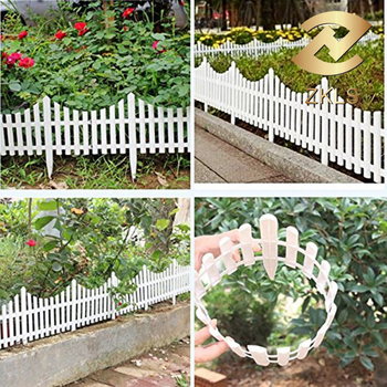 white free combination garden edging picket plastic garden fence - Plastic Garden Edging