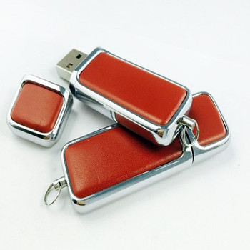 Metal frame Red Black leather usb memory stick 4gb 8gb 16gb 32gb usb 2.0