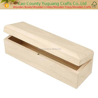 Wooden Rectangular Pencil Box with Magnetic Clasp