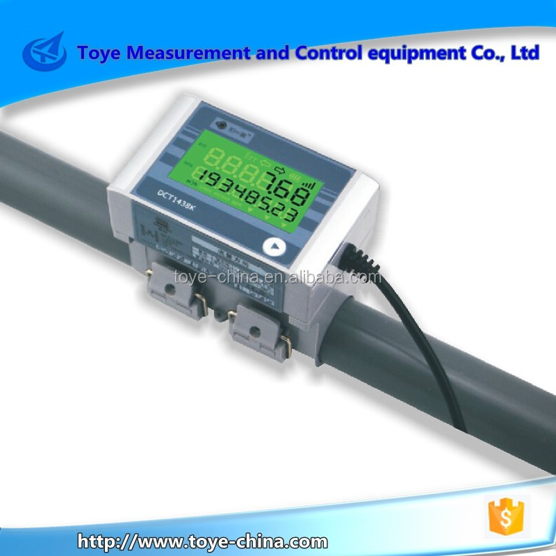 4-20mA RS-485 Modbus comunication Clamp On Water Flow Measured Ultrasonic Flow Meter With LCD Digital Display
