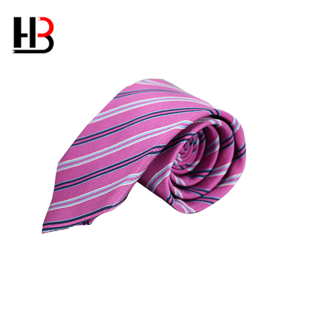 Wholesale stock red striped mens silk tie