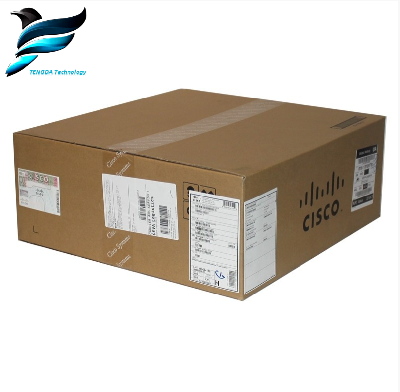 24 port 10/100 Mbps Cisco Switch POE Beheerd WS-C3750V2-24PS-S
