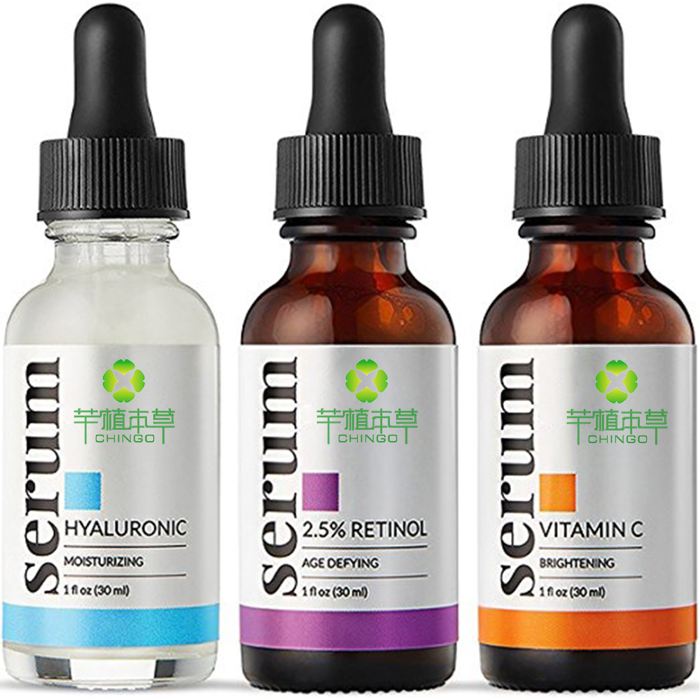 Anti aging vitamin c serum set retinol & hyaluronsäure serum