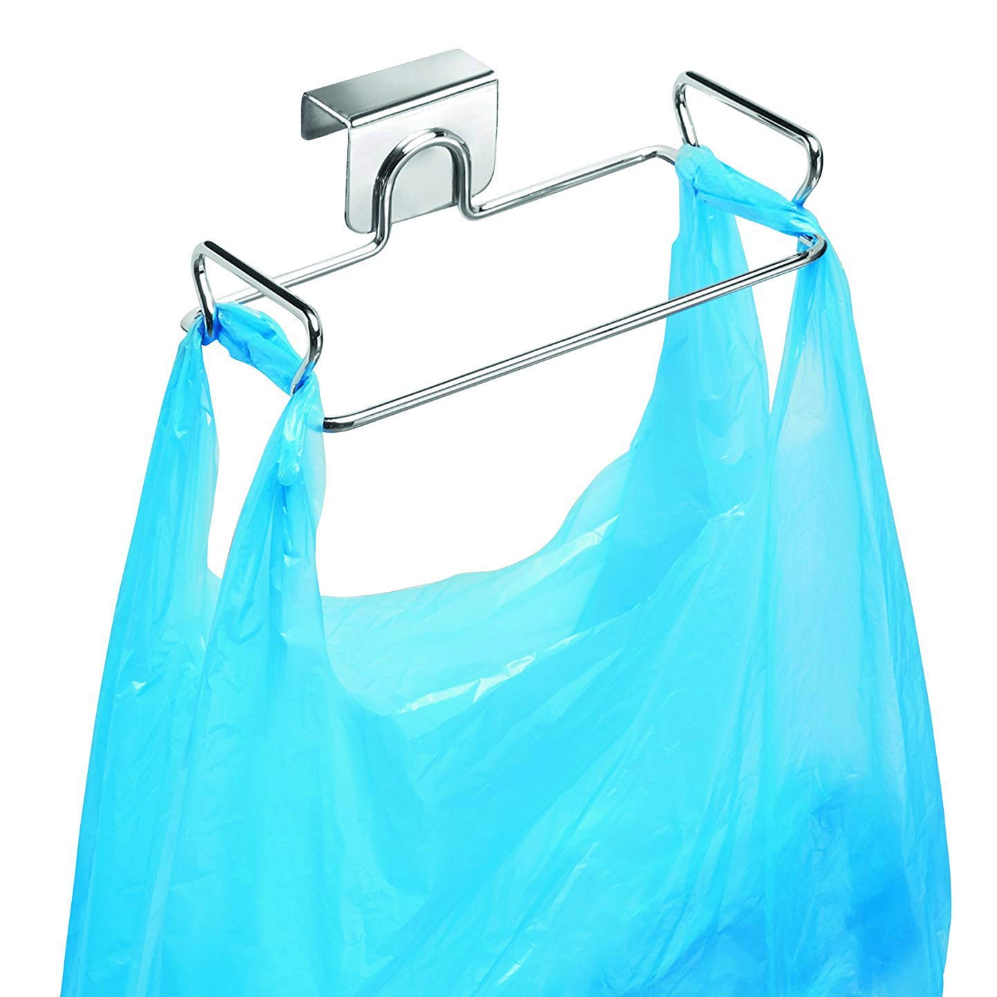 KABAKE Hanging Garbage Bags Storage Organizer Rack Stainless Steel Trash Bag Holder Towel Gloves Hanger for Kitchen Cabinet Cupboard Drawer Back Door Hook Hangers