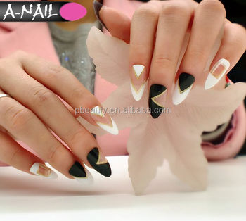 New Best Nail Tips For Acrylic Nails French Tip Fake 24pcs Box 12designs