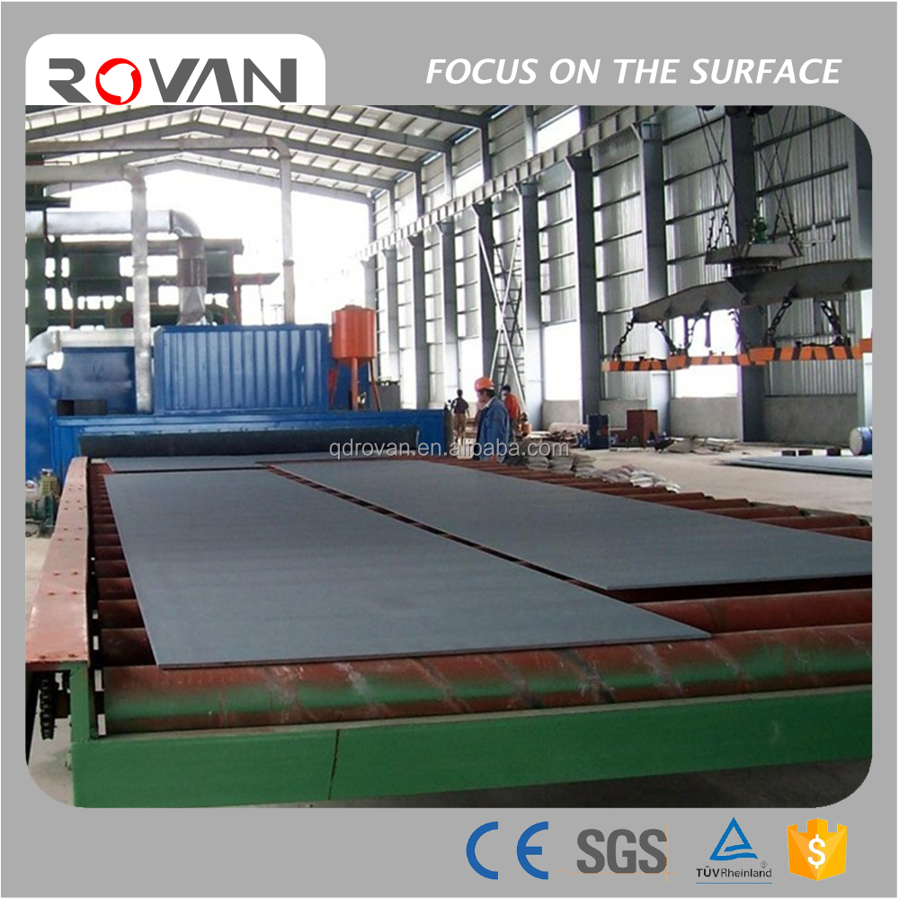 Roller Conveyor Steel Plate Surface Cleaning Machine, Rust Removal Shot Blasting Machine