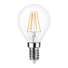 2W 4W Mini E12 E14 SES LED Filament Bulb G45 Clear Glass Golf Ball Bulb Warm White 2700K 20W Incandescent Replacement
