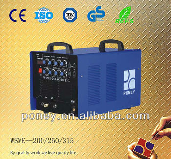 ce approved ac dc tig welder welding machine wsme 250 315