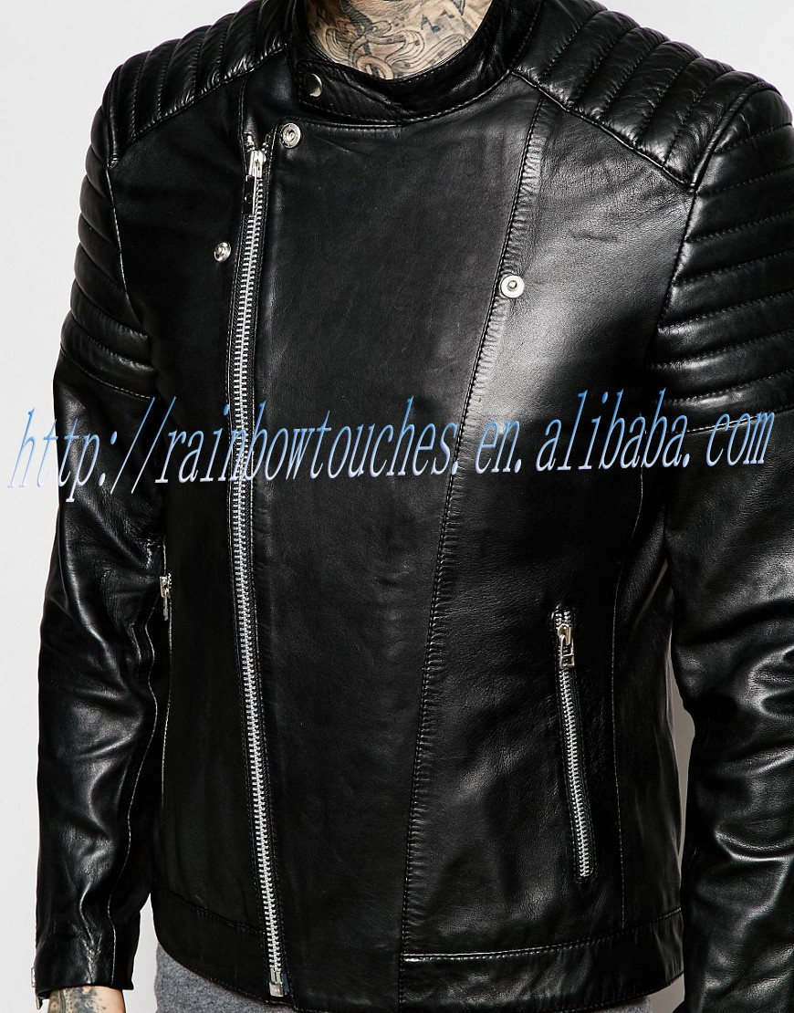 Long Sleeve High quality Winter Mans Classic Leather In Black