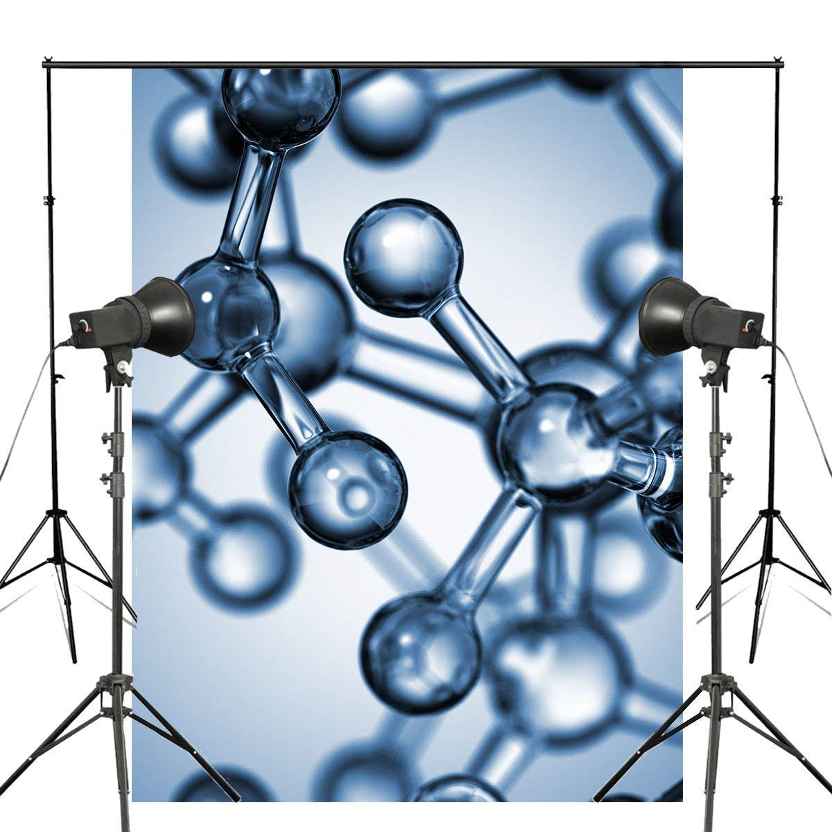 ERTIANANG Molecule Medical Biology Photography Background Medicine Psychedelic Science Backdrop Studio Props Wall 150x220cm