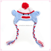 Factory-direct Selling Newborn Baby Crochet Costume Hat Knitted Hats with Earflap
