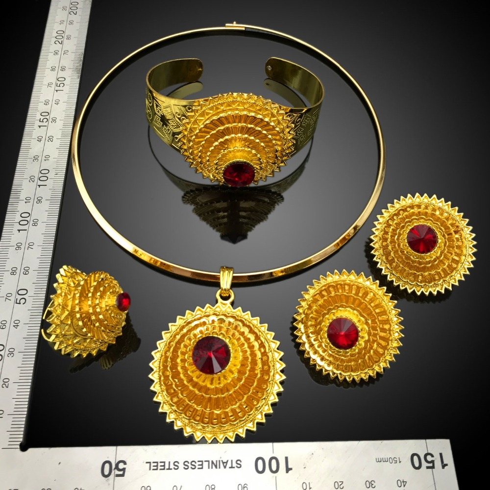 New Design 18 Carat Gold Jewelry Sets ManufacturerAfrican Cheap