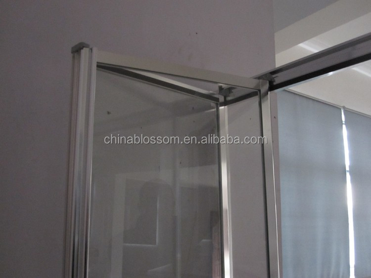 China Blossom bathroom small size framed bi-fold bifold glass accordion shower doors