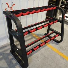 Hot Sale 3-layer 10 pares de halteres rack de equipamentos de fitness de peso pesado.