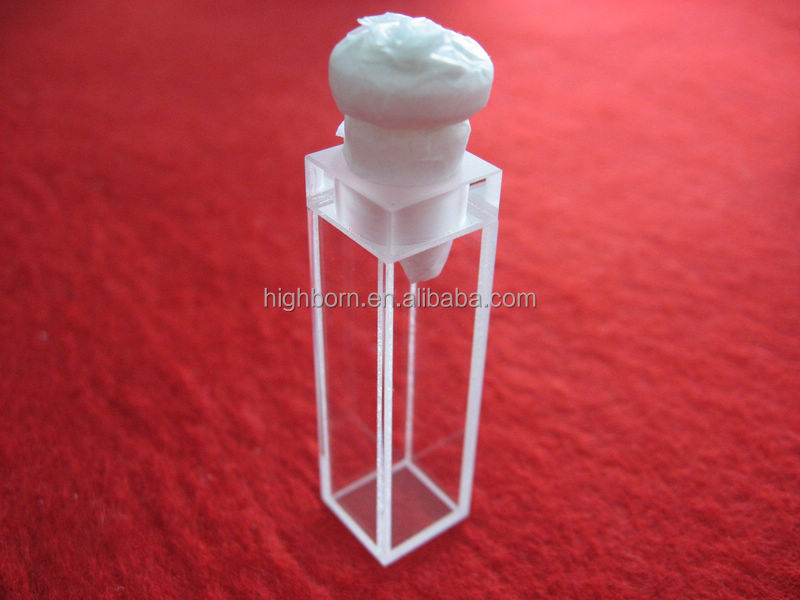 High purity UV quartz cuvette with stopper