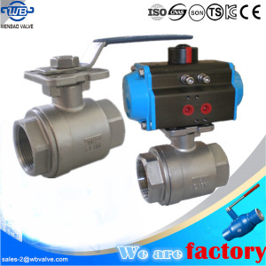 WB-67 2PC Bare Shaft BSP Thread Ball Valve with ISO Top Flange
