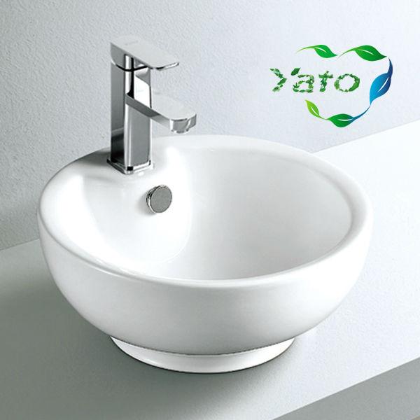 Bath Sink Hair Salon Wash Basins Toilet Set With Face Basin Stand Yc