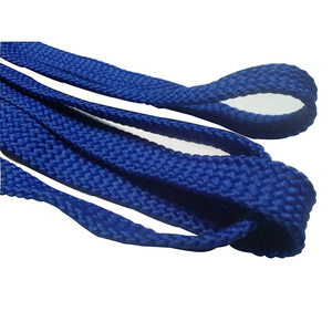 Blue Polyester Flat Drawstring Cord for Clothes ,Hat ,Shoelace