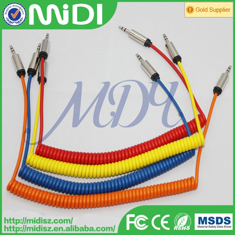 top selling ofc audio cable flowing light 3.5mm audio cable