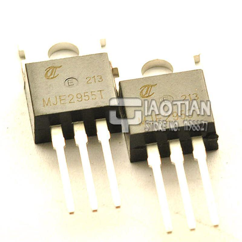 10pcs MJE2955T MJE2955 PNP Transistor 10A 60V TO-220 CA