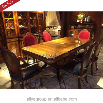 Royal Wood Carved 6 Seater Dining Table Set 1001a 25 Buy 6 Seater