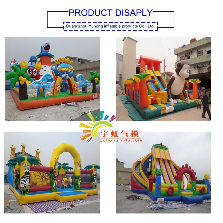 Divertimento Città gonfiabile Parco di Divertimenti Gonfiabile Per Adulti Formato Diapositive In Giardino Parco giochi