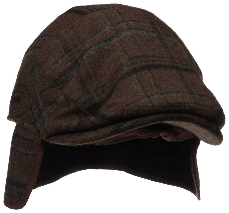 1c5981dd18c Get Quotations · Henschel Men s Wool Blend Plaid Ivy Hat with Earflaps